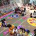 डव जूनियर पब्लिक स्कूल में बच्चों के बीच रंगोली प्रतियोगिता का आयोजन