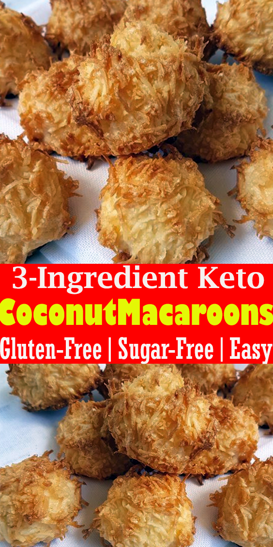 3-Ingredient Keto Coconut Macaroons (Gluten-Free, Sugar-Free, Easy)