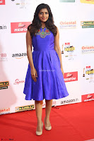 Eesha in Cute Blue Sleevelss Short Frock at Mirchi Music Awards South 2017 ~  Exclusive Celebrities Galleries 036.JPG