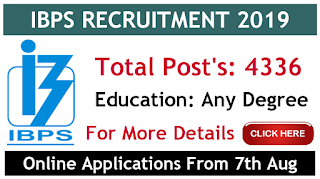Ibps probationary officers / management trainee notification 2019