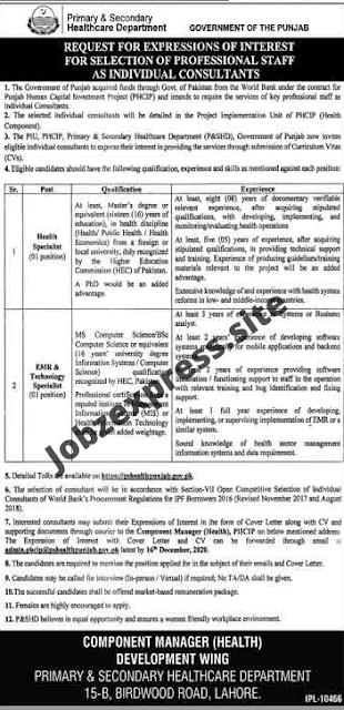 Jobs in Lahore 2020
