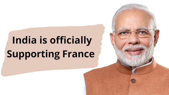India Officially Supporting France - News