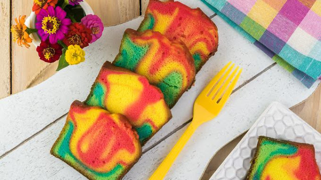 Resep Rainbow Chiffon Cake Lembut