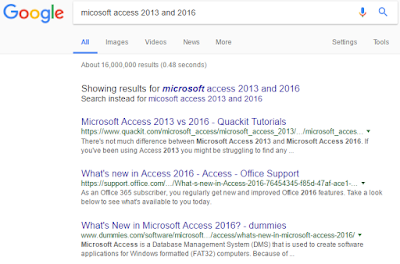 Screenshot: Google search result and format