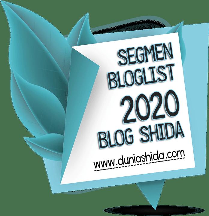 SEGMEN BLOGLIST 2020 BLOG SHIDA