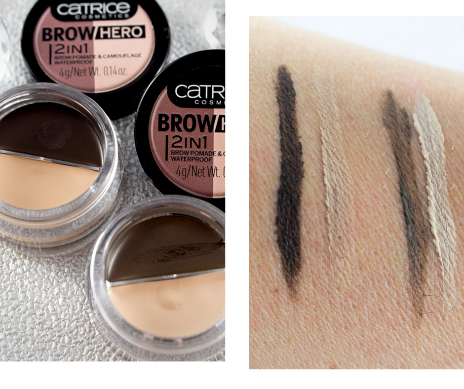 Catrice neues Sortiment  Frühjahr Sommer 2018, Catrice Brow Hero 2in1 Brow Pomade & Camouflage Waterproof