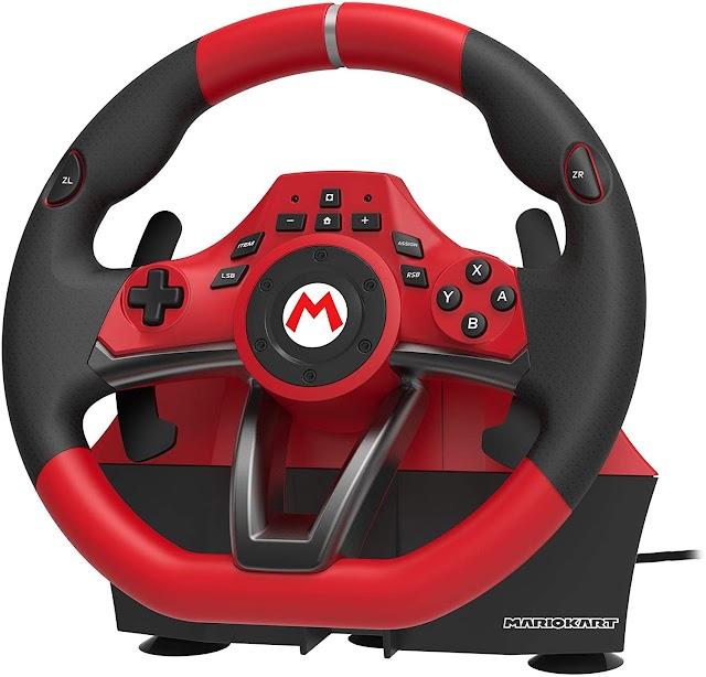 Volante HORI Mario Kart Pro De Lujo para Nintendo Switch y PC