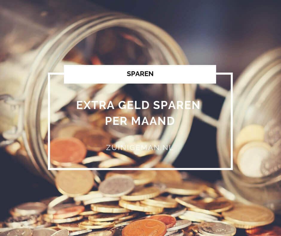 extra geld sparen per maand