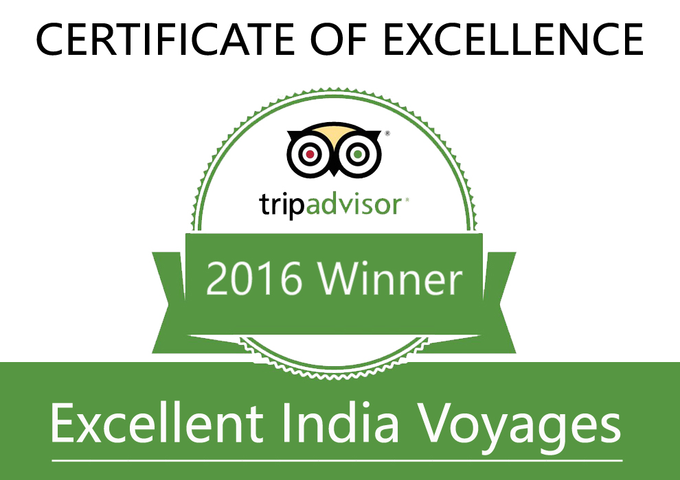 trip advisor certificate of excellence 2016 winner, udaipur location, attraction travel package and tour.