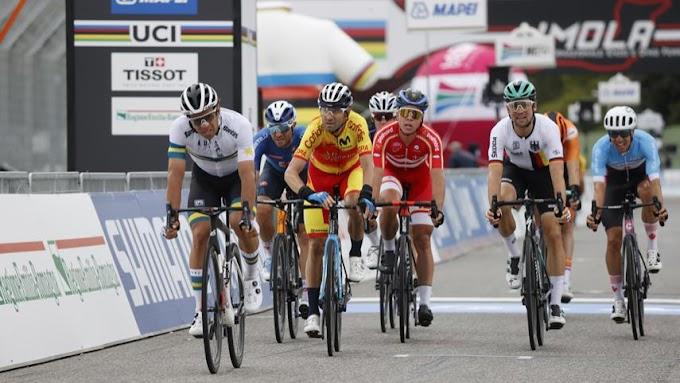 Valverde remató octavo en el Mundial de Imola que vistió de arcoíris a Alaphilippe