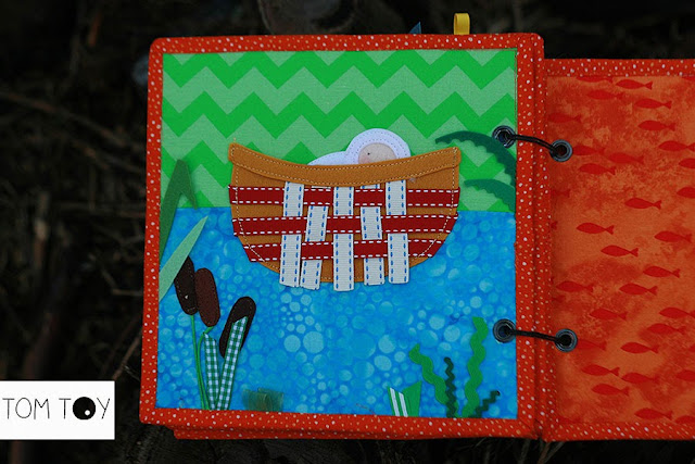 Bible quiet books handmade by TomToy Baby Moses