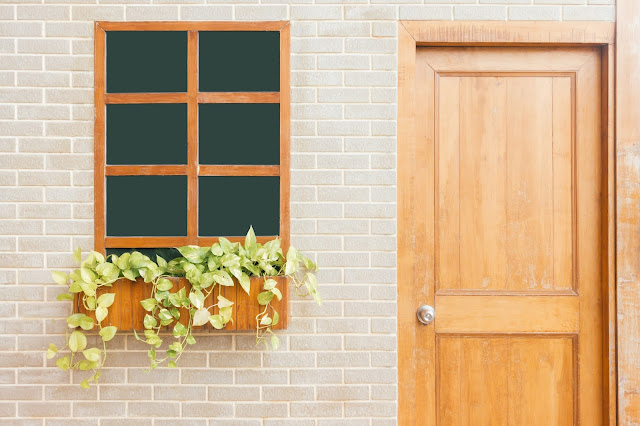 image of a door and window of a house