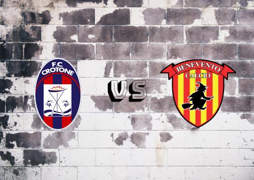 Crotone vs Benevento  Resumen