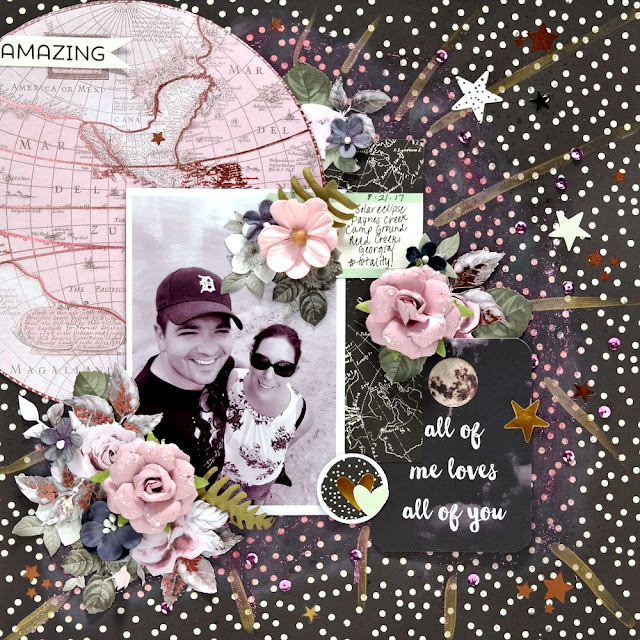 Amazing Layout by Dana Tatar for Scraps of Darkness - August 2017 Sparkle and Shine Kit
