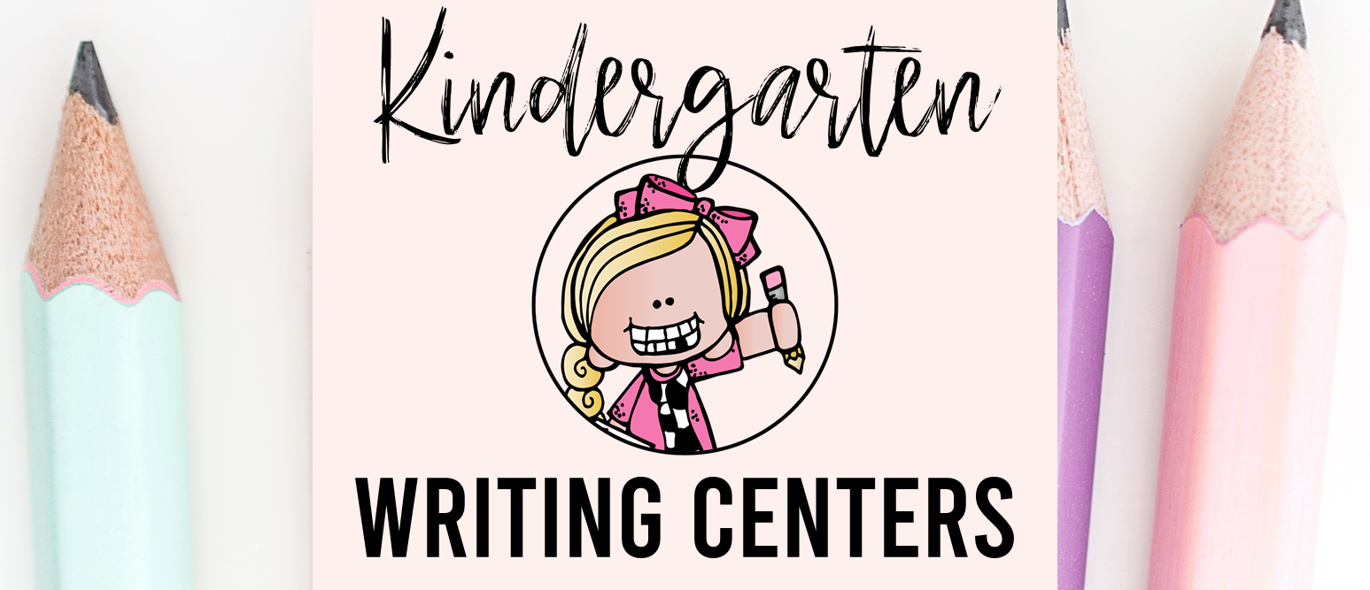 Kindergarten writing centers for the whole school year with templates, prompts, labeling, book making, write the room, and more.