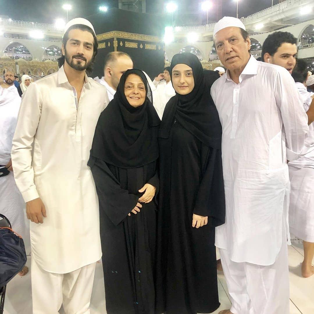 Javed Sheikh with his Family in Madina Munawara