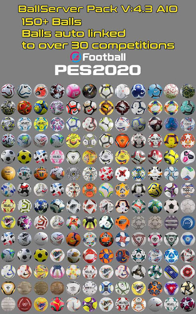 PES 2020 Ball Server Pack V4.3 by Hawke