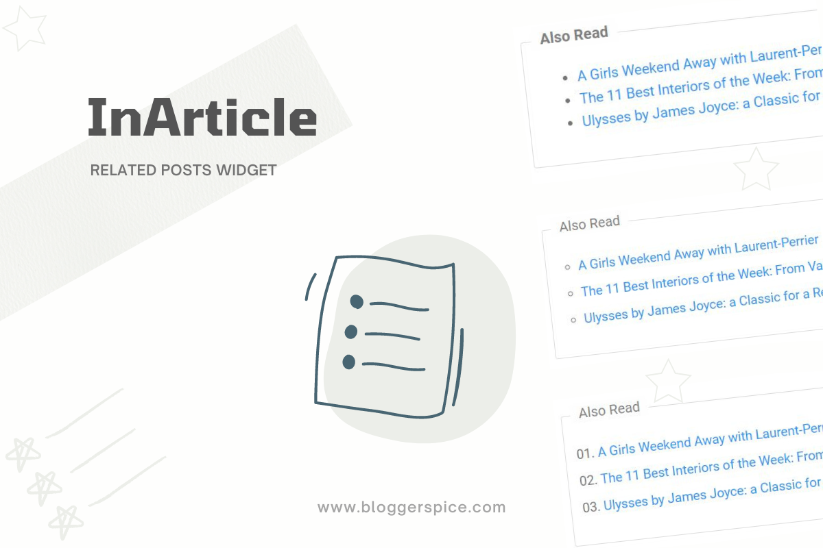 How to add InArticle Related Posts Widget For Blogger Theme