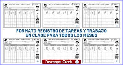 REGISTRO DE TAREAS Y TRABAJO EN CLASE