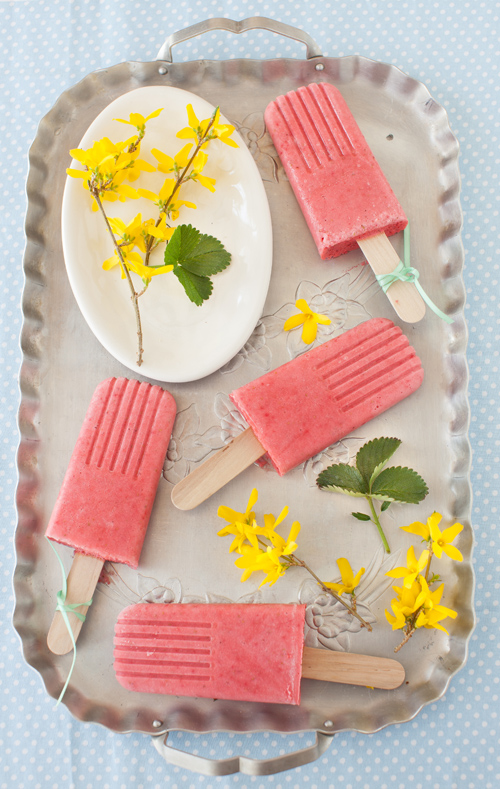 Strawberry Smoothie Popsicles at Cooking Melangery