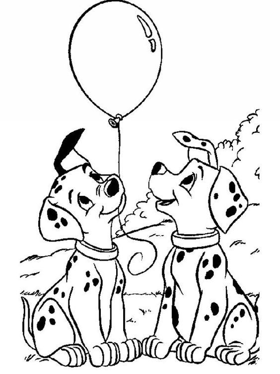 Dogs coloring pages 45