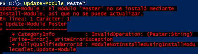 PowerShell: Pester - Instalación - (Parte 2)