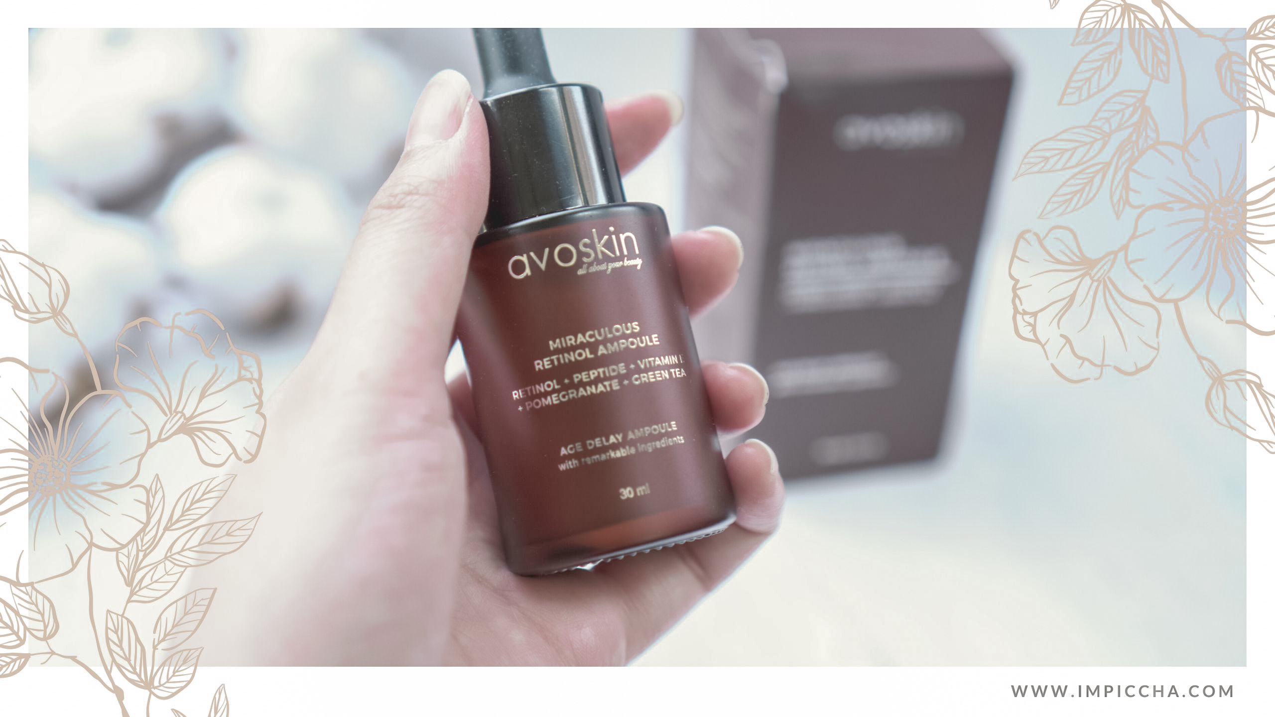 Packaging Avoskin Miraculous Retinol Ampoule