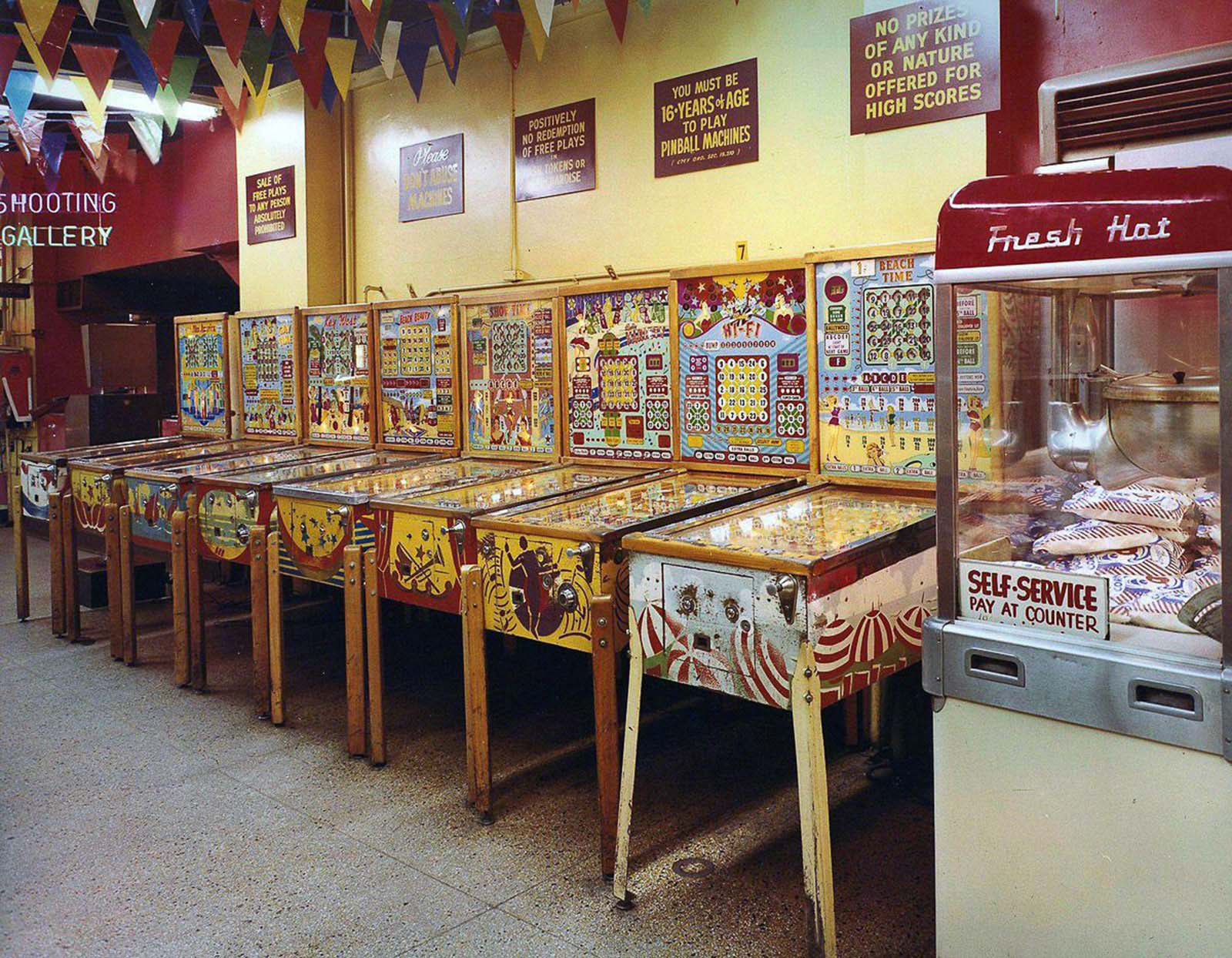 The famous Pin Ball machines.
