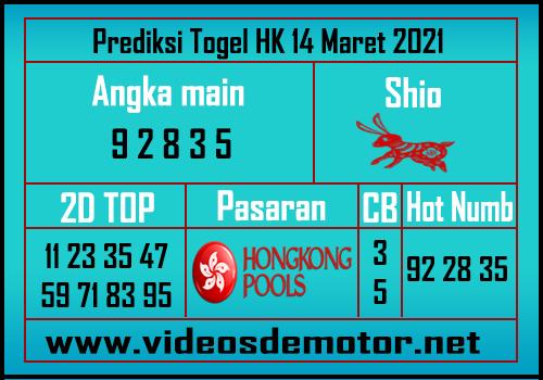 Angka Main HK 14 Maret 2021