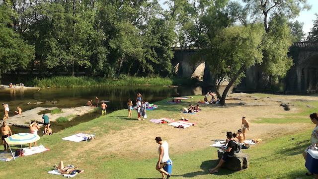 Rio Homem na Ponte Nova de Loureira