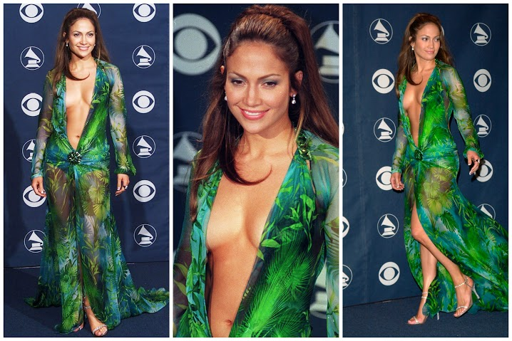 Busana Paling Seksi di Red Carpet - Jennifer Lopez at the Grammy's