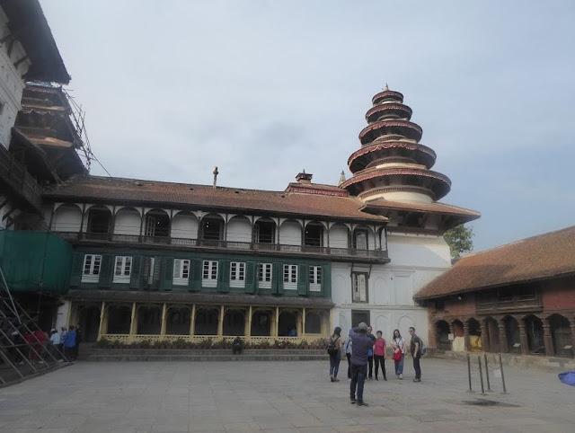 cortile di palazzo reale a Kathmandu