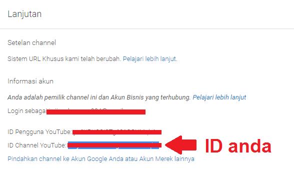 ID channel youtube anda