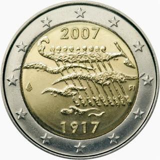 Itsenäisyys 90 Suomi kolikko 2007