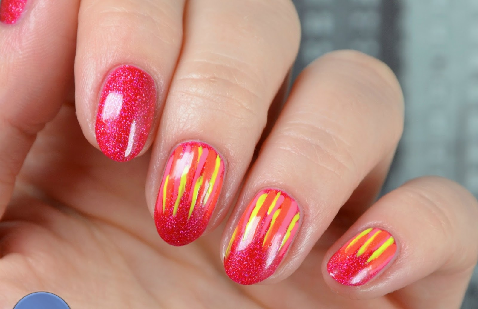 waterfall nails swatch Colour Alike So Red