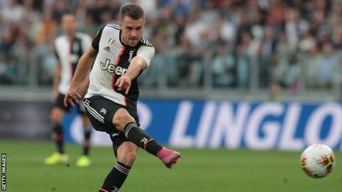 Aaron Ramsey scores his first Serie A game for Juventus
