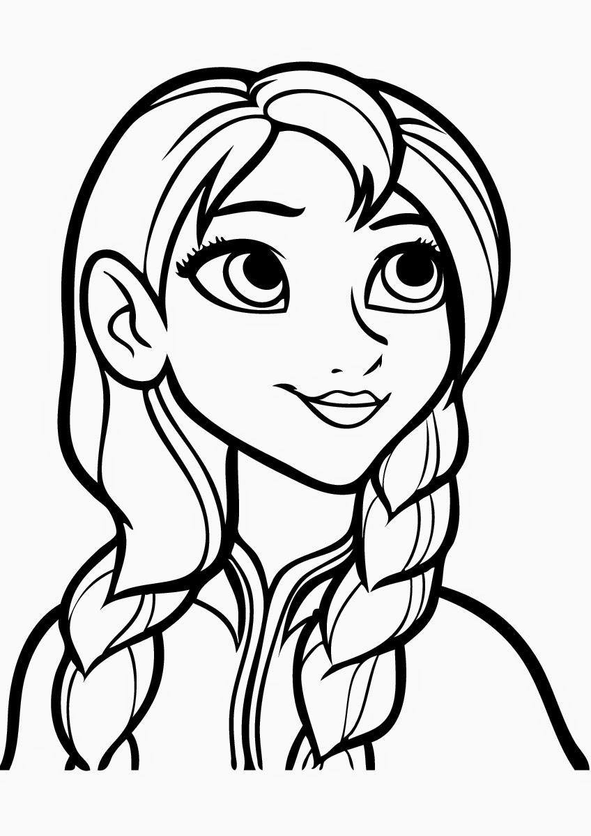 Anna Frozen Coloring Pages to Print high quality