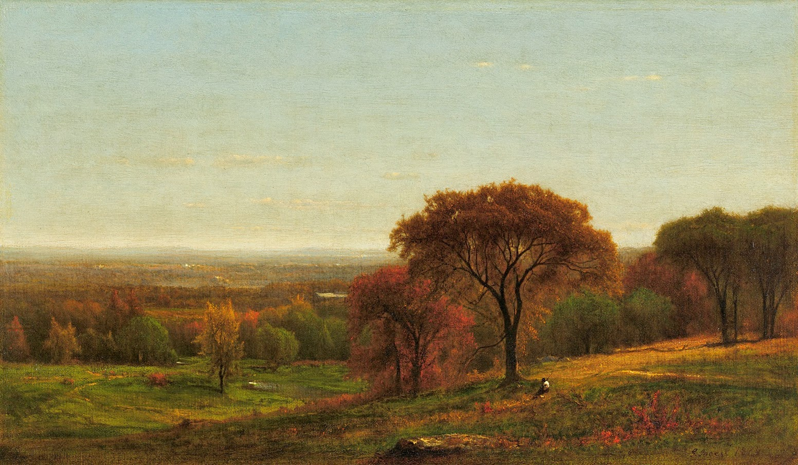 george inness early moonrise - HD 1552×905