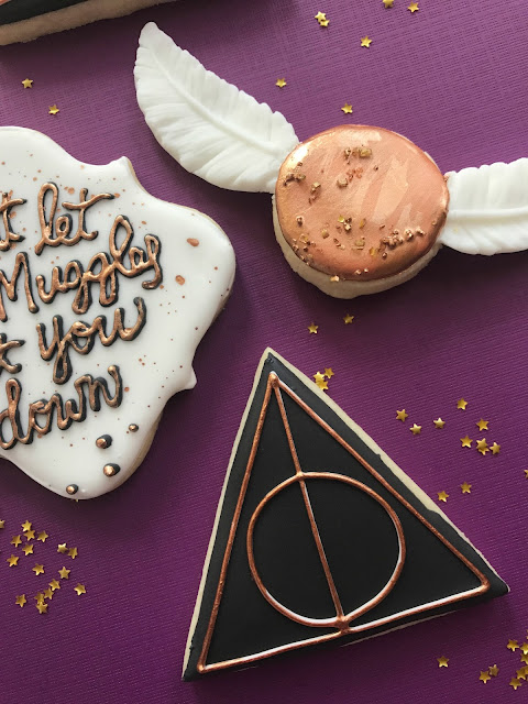 Harry Potter S Golden Snitch Cookie Sweet Jenny Belle Easy Sugar Cookie Decorating