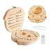 Caixa de madeira organizadora de dentes Menino