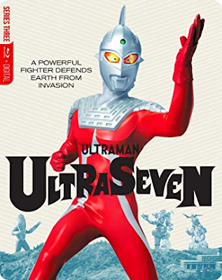 Cover art for Mill Creek's Limited Edition Steelbook of ULTRASEVEN!