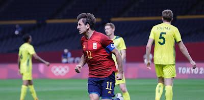 ملخص و هدف فوز اسبانيا علي استراليا (1-0) اولمبياد طوكيو