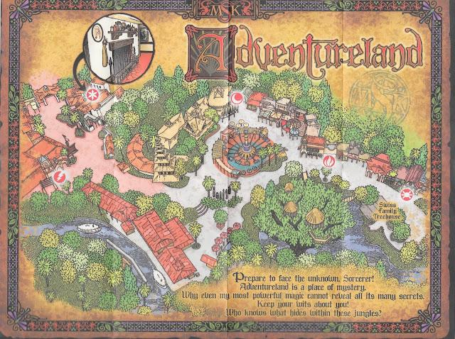 Adventureland Sorcerers of the Magic Kingdom Map