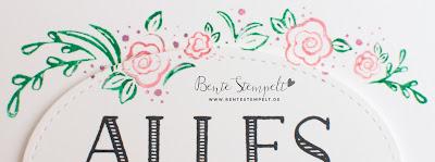 Stampin up Blütenranke Blumenbogen