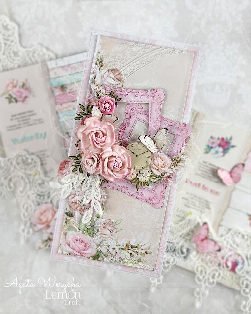 Kolekcja papierów Yesterday do romantycznych kartek