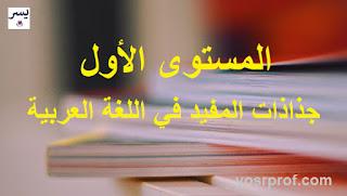جذاذات المفيد في اللغة العربية