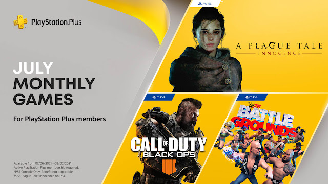 playstation plus a plague tale innocence call of duty black ops 4 wwe 2k battlegrounds virtua fighter 5 ultimate showdown ps4 plus ps5 sony interactive entertainment multiplayer first-person shooter over the top action third-person survival horror arcade fighting game treyarch activision saber interactive 2k sports asobo studio focus home interactive ryu ga gotoku studio sega