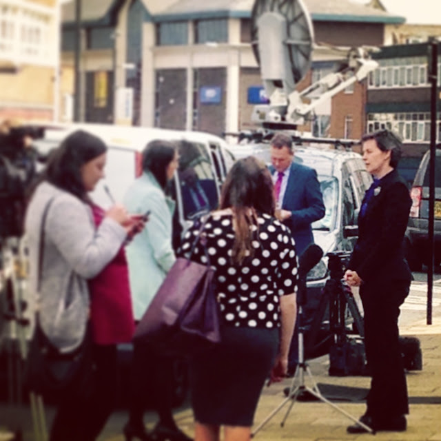 Wakefield MP Mary Creagh being interviewed on Northgate