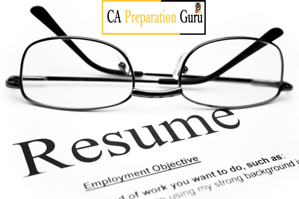 how to prepare resume for ca articleship