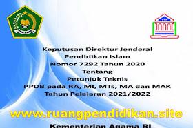 Juknis PPDB RA, MI, MTs, MA dan MAK Tahun Ajaran 2021/2022
